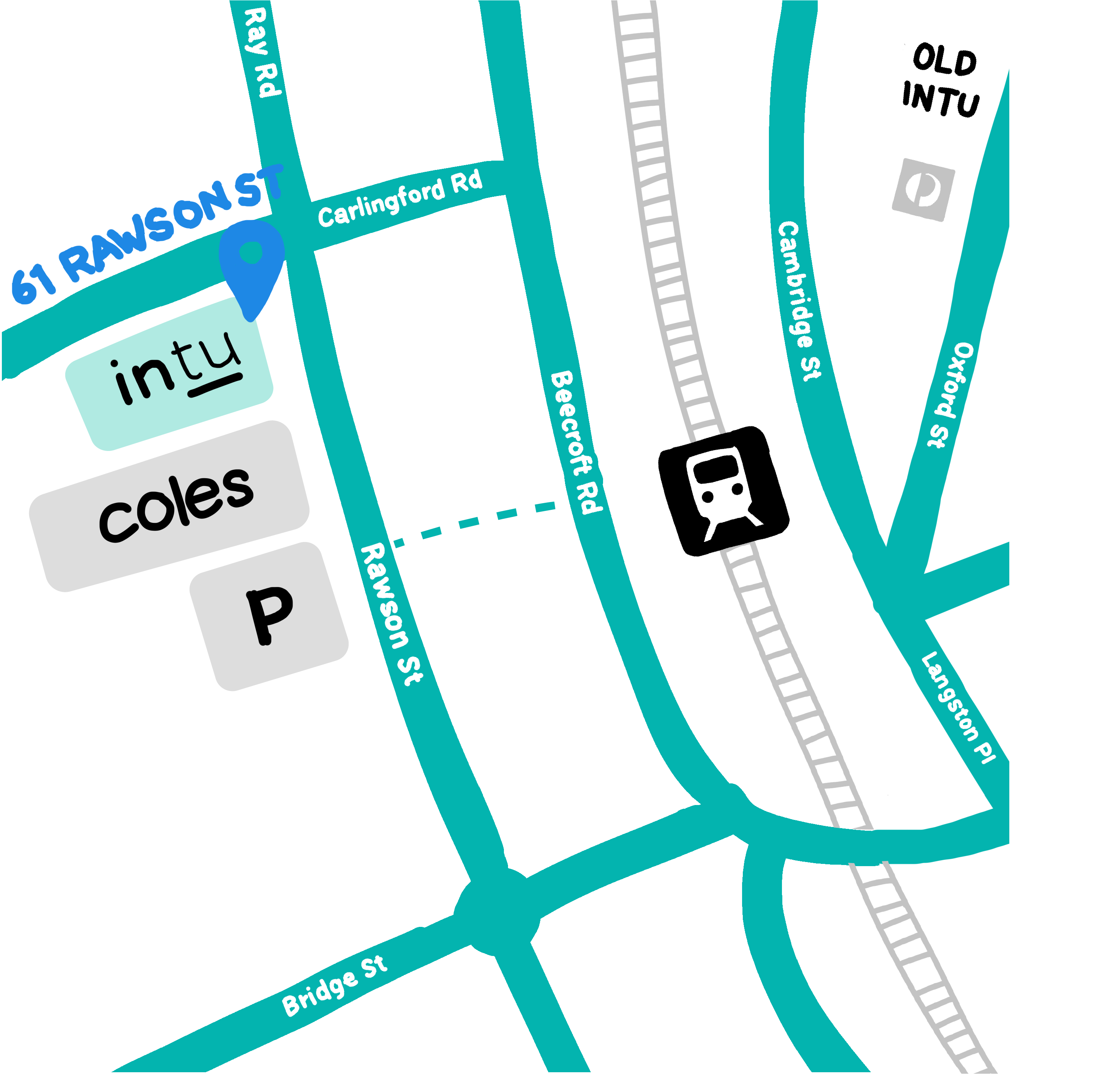 Map to the new Intu building